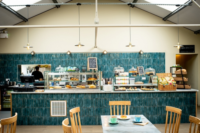Honesty's new barn-style cafe at Dummer - picture credit Alex Smith
